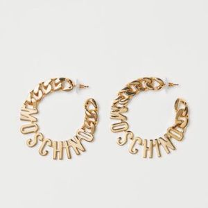 MOSCHINO BY H&M hoop logo earrings
